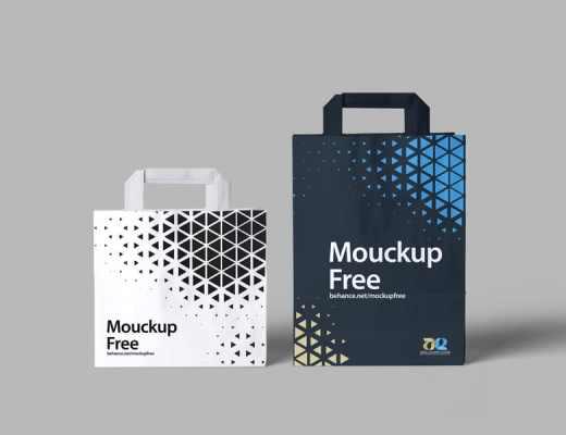 Free paper Bag PSD Mocku
