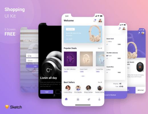 Material Design UI KIT mobile
