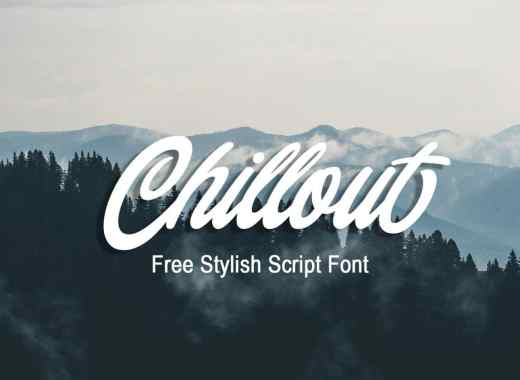 Chillout free font