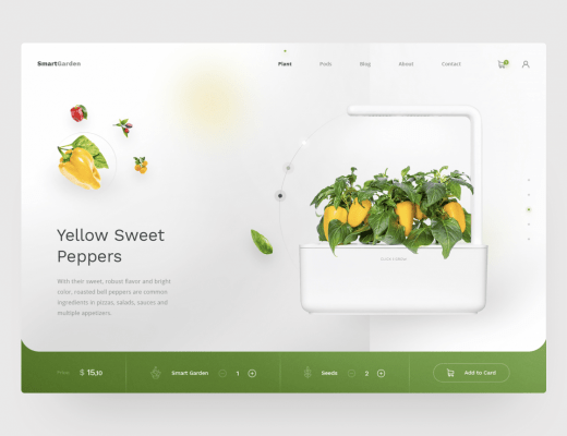 garden website free ui