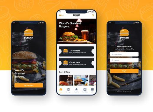 food app free ui kit xd