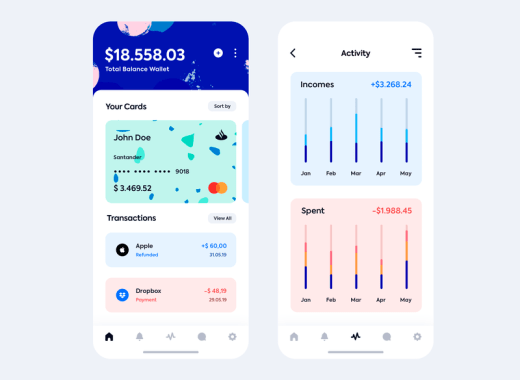 wallet app for iphone free psd