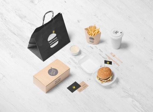 burger mockup free scene