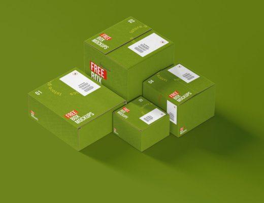 7 Free Boxes Mockups