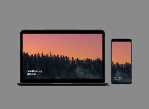 Pixel 4 and PixelBook Go Mockup