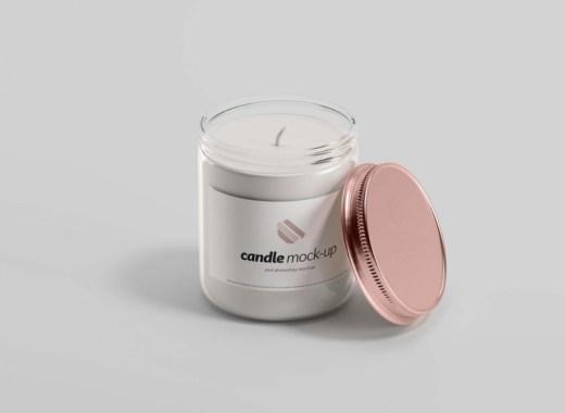 Glass Candle Mockup free