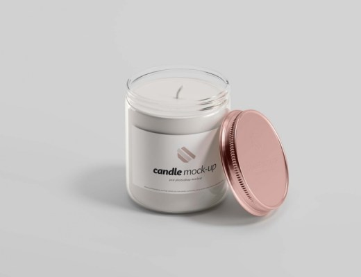 Glass Candle Mockup free