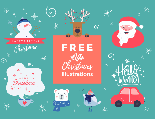 free Christmas illustrations