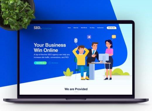 free weo agency website template Adobe XD