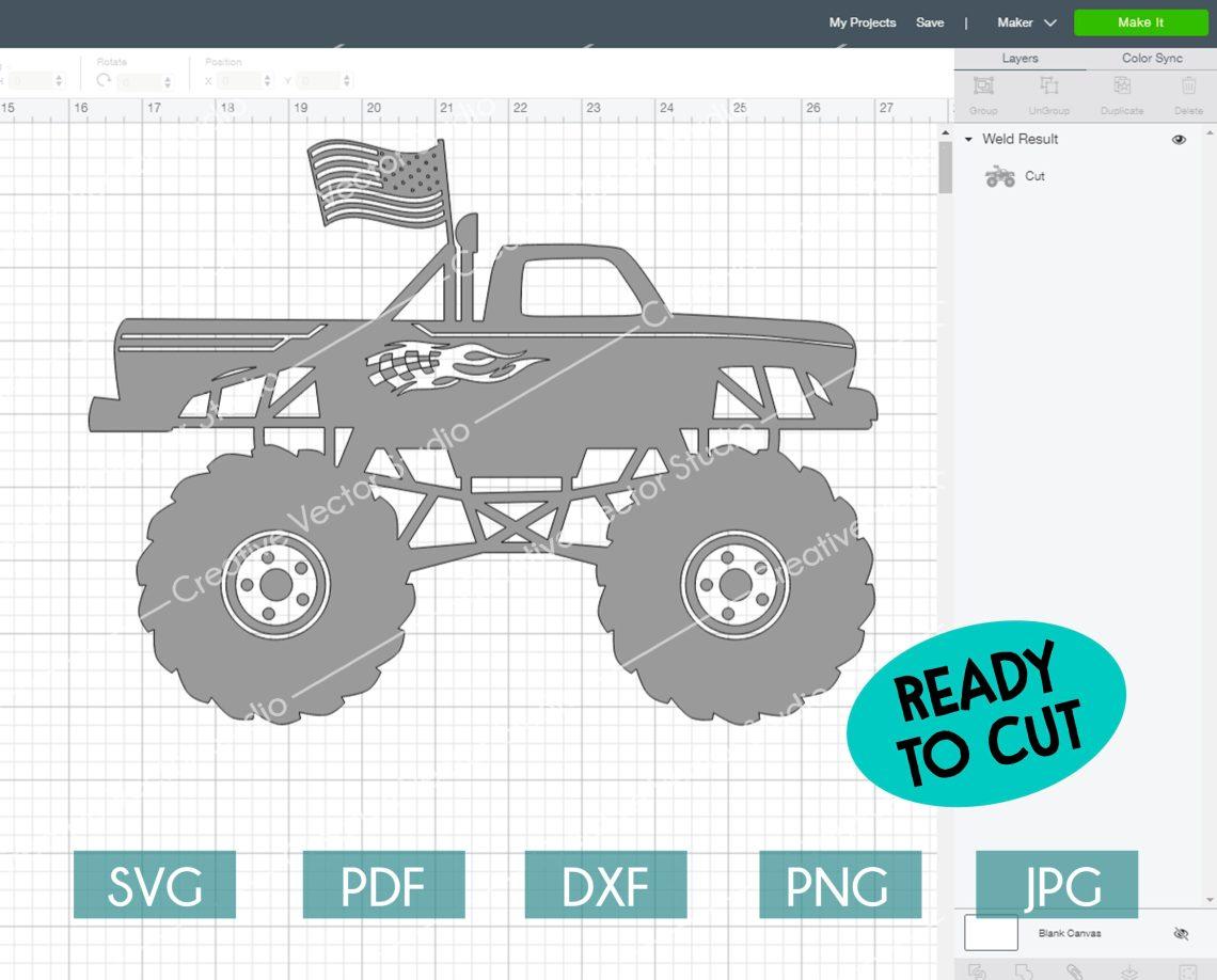 Download Monster Truck SVG, Monster Truck Silhouette, Monster Jam ...