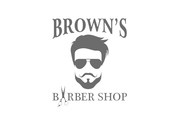 Brown's Barber Shop Logo