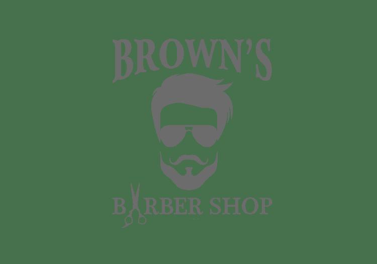 Brown's Barber Shop Logo
