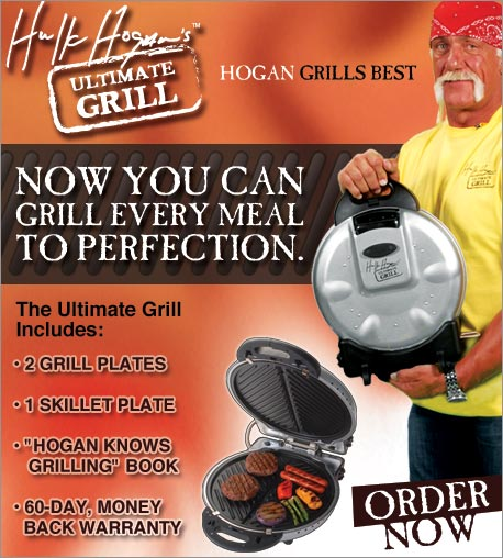 Hulk Hogan's Ultimate Grill - Now you can grill every meal to perfection.