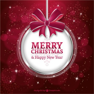 Christmas & New Year 2015 vector greetings download free