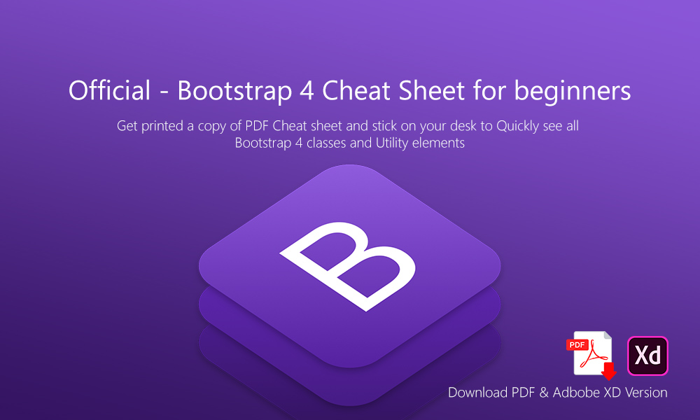 Official - Bootstrap 4 Cheat Sheet for beginners - Creative Alive