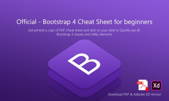 Official – Bootstrap 4 Cheat Sheet for beginners