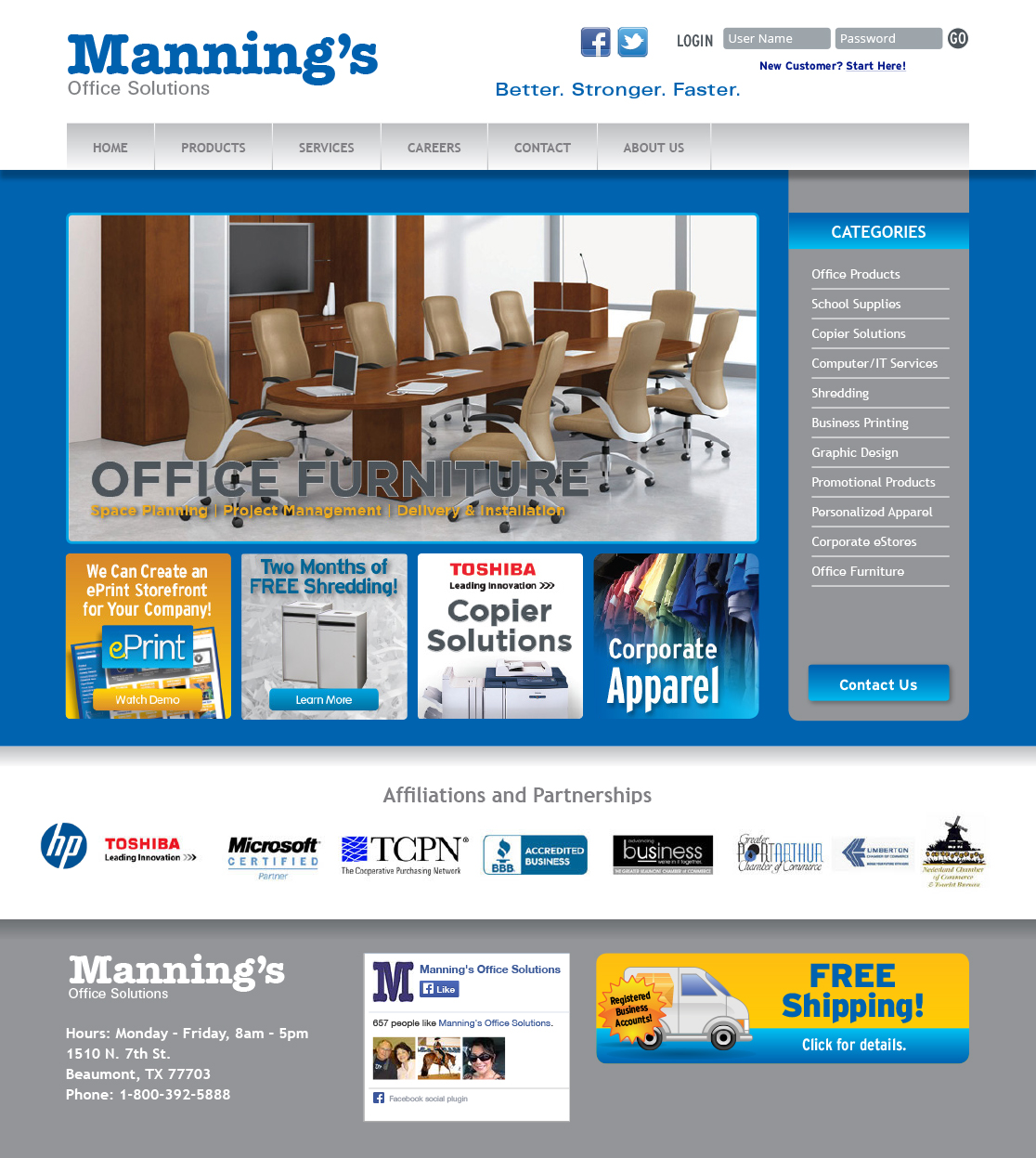 Manning Office Solutions Website