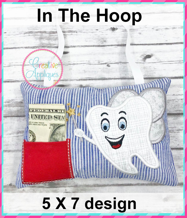 in the hoop boy tooth fairy pillow design