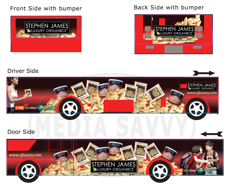 Mini Bus ad for  SJO Pili Nuts
