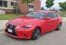 The Redline-colored Lexus 2016 IS 200t