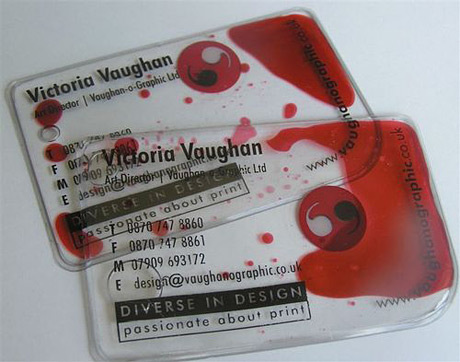 bloody business card