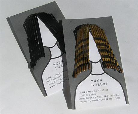 hair grip business card