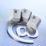 Writing a blog. Image of keyboard keys spelling 'web' with an @ symbol