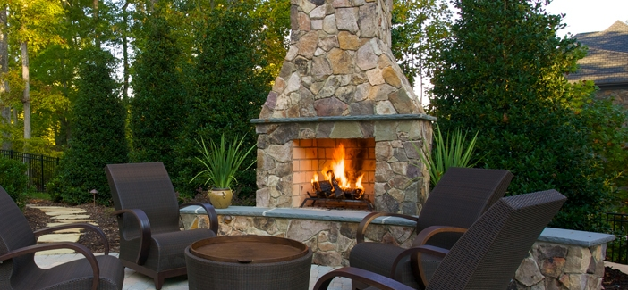 A Stand Alone Outdoor Fireplace - Elegance and Style Right ... on Fireplace In Yard id=19358