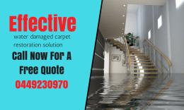 water damaged carpet restoration