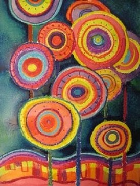 painting by Hundertwasser