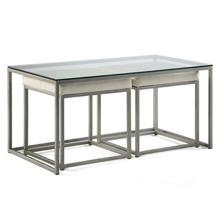 cubic nesting coffee table with