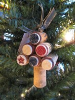 Wine Cork Ornament with clay pieces 3
