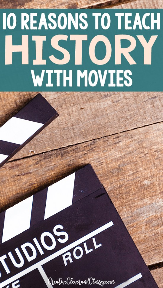 Teaching history with movies has many advantages and makes learning fun and memorable! Here are 10 reasons to teach history through movies.