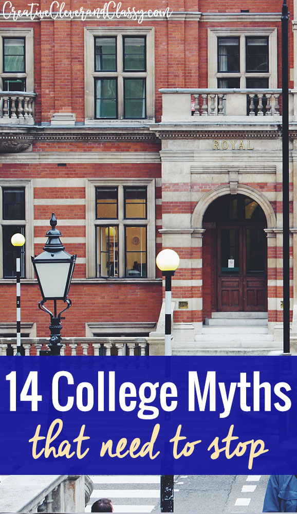 I'm not anti-college. Heck, I'm currently in college. However, here are 14 college myths that need to stop.