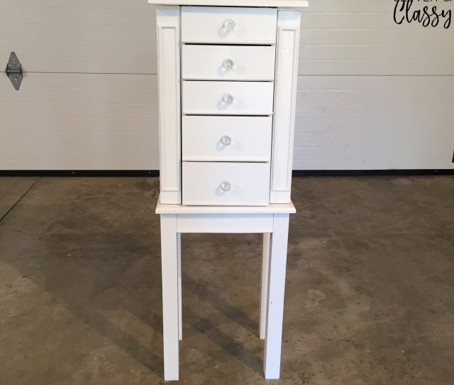 How To Paint Furniture Diy Jewelry Armoire