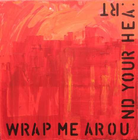 Wrap me around your heart, Acryl auf Leinwand, Dodo Kresse