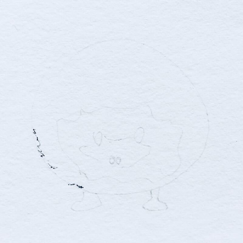 Vorzeichnung in Bleistift