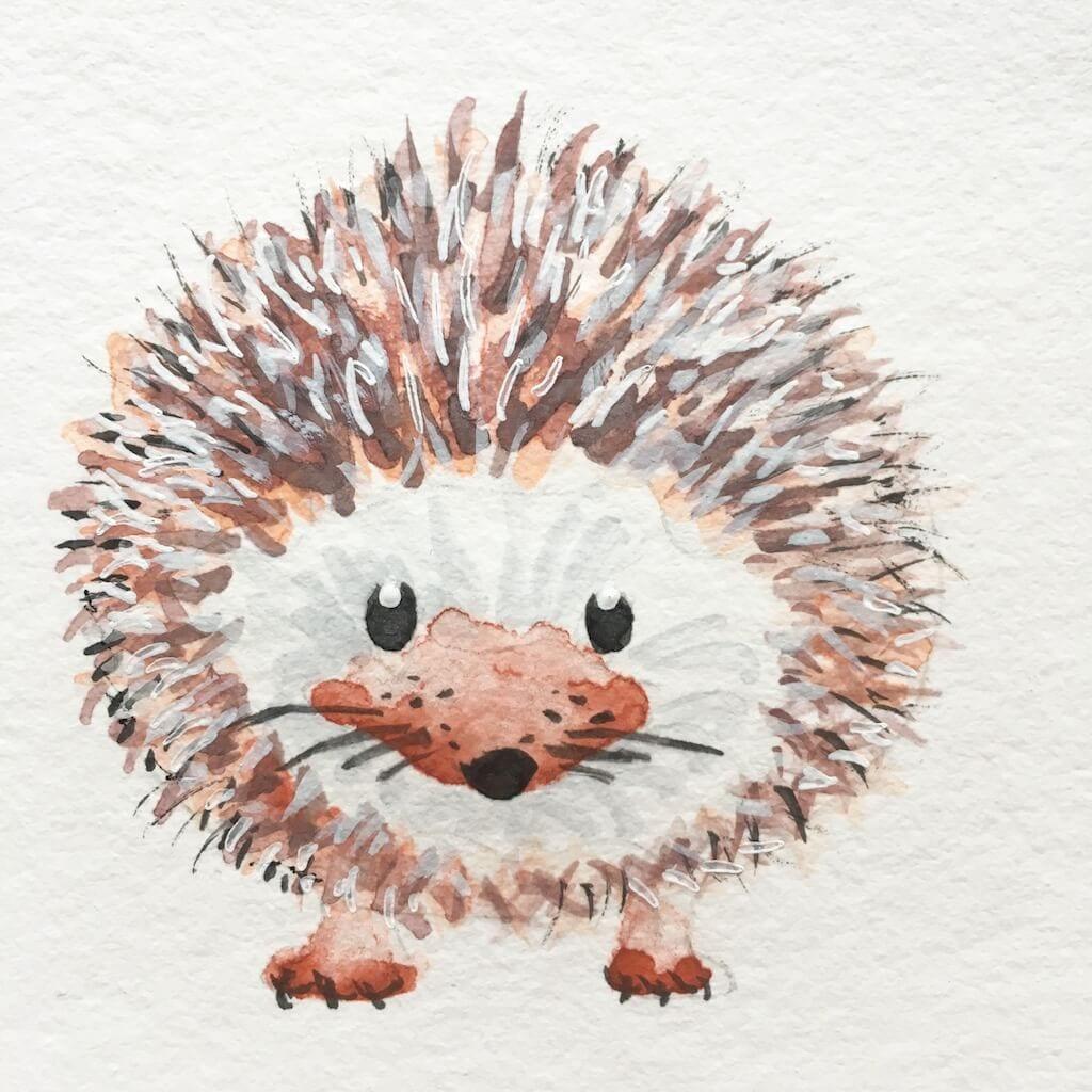 Du siehst die Ilustrataioin eines Igels von Dodo Kresse