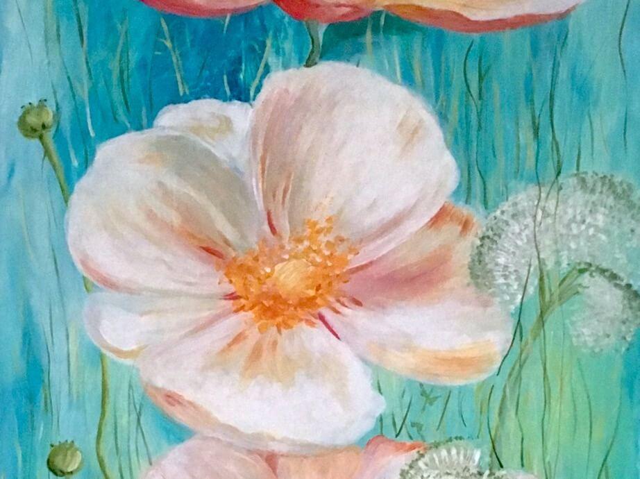 Acrylmalen: Flowerpower