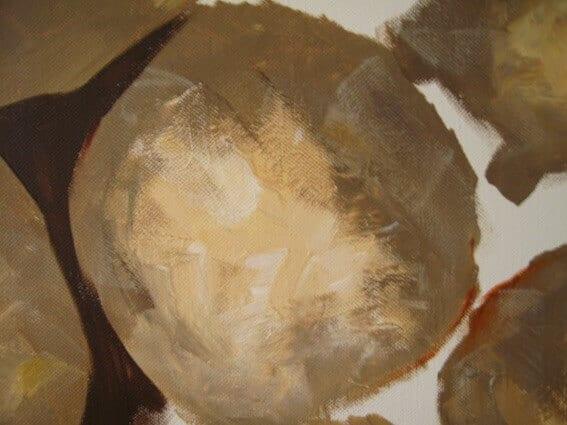 Man sieht gemalte Steine der Künstlerin Dodo Kresse für Creative Club
