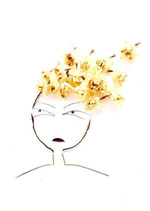 Man sieht einen traurigen Mund des Collagebildes Happy Mind von Dodo Kresse