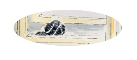 """Du siehst ein Aquarell von Dodo Kresse """"Der Stein"""""""