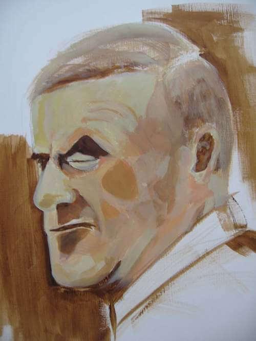 acryl malen ist sehr dankbar. du siehst einen entwicklungsschritt des portrait-projekts