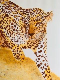 du siehst die alte version des Leoparden mit der entstellten Schnauze