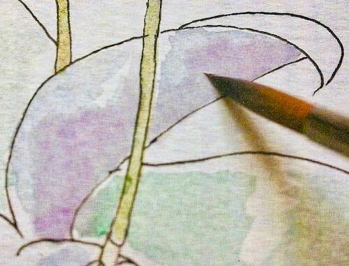Der letzte Step der Schritt-Anleitung Orchidee: die Blätter
