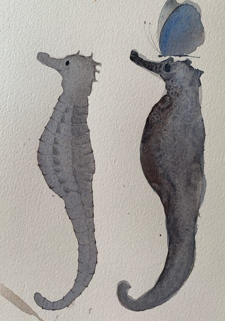 die zwei seepferdchens
