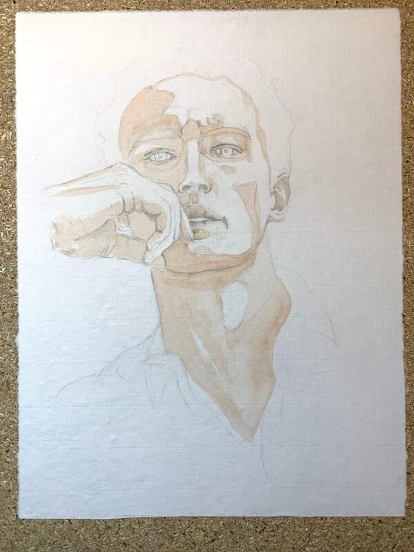 Aquarell-Porträt Nr. 1