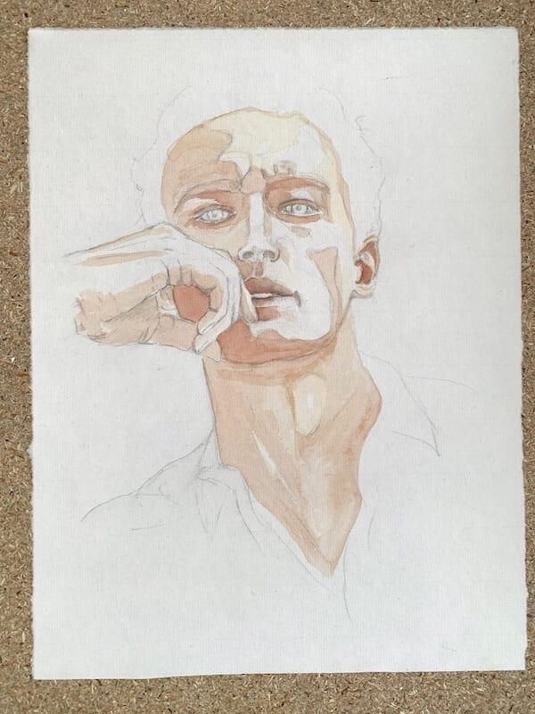 Aquarell-Porträt Lasur Nr. 2