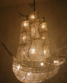 A Crystal Ship Chandelier
