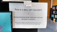 Notice: This is a real art gallery